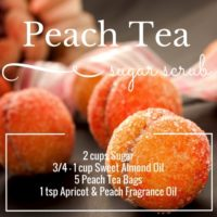 Peach & Peach & Apricot Tea Sugar Scrub
